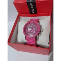 Lindo Relógio Feminino Michael Kors - Rosa Pink E Prata