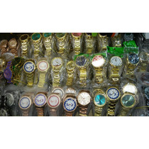 Kit Relógio Feminino Pulso Dourado/prata Atacado Lote C/5