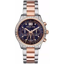 Relógio Michael Kors Mk6205 Prata E Dourado Pronta Entrega