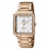 Relogio Feminino Champion Rose Quadrado Com Strass Original
