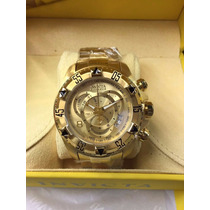 Relogio Invicta Original Masculino Reserve Excursion Dourado