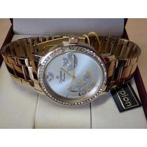 Relógio Champion Passion Dourado 01 Ano De Garantia Envio Já