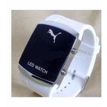 Relogio Led Pulso Puma Sport Black Watch Led Digital Lindo