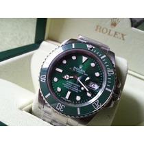 Relógio Eta Modelo Submariner Dial Verde + Caixa Rolex