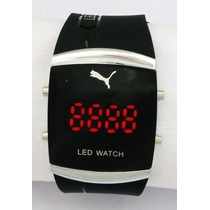 Relogio Led Pulso Puma Sport Black Watch Digital