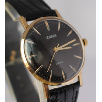 Relógio Original Sekonda (poljot)- Ouro - Soviético - 1970´s