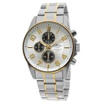 Relógio Masculino Prata E Dourado - Ky70214/4b Condor