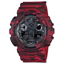 Relógio Casio G-shock Ga-100 Cm-4a Camuflado 5 Alarm 200m Vm