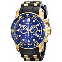 Relógio Invicta Masc Modelo 17882 Banho Ouro 18k Original