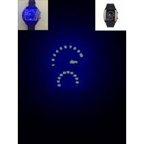 Relógio Velocímetro Led Pulso Masculino Rpm Pulseira Preto