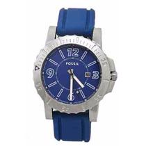Relógio Masculino Fossil Mod. Bq1024 Pulseira De Borracha