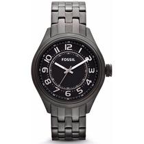 Relógio Fossil Bq1040 Preto Em Aço Inoxidável Original Garan