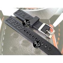 Pulseira Borracha Para Relógios Breitling 18mm - Nova