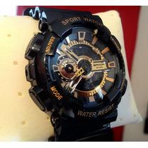 Relógio Shock Resist Ga 110 Sport Watch-original Sanda Gold
