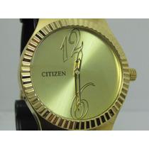 Relógio Citizen Banhado A Ouro Masculino - Dia Dos Namorado