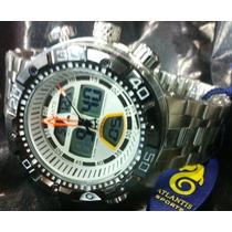 Relogio Atlantis Sports Aqualand J3400 Caixa Grande Branco