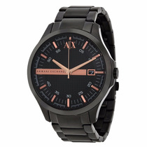 Relógio Armani Exchange Ax2150 Preto Rose Caixa E Manual.