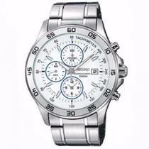 Relógio Seiko 7t92bn/1 Prata Pulseira Aço Cronógrafo Nfe