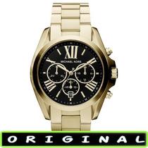 Relógio Michael Kors Mk5739 Gold Black 43mm Oversized Novo !