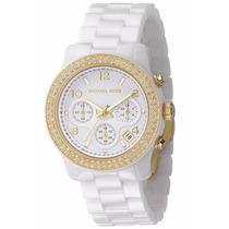 Relógio Michael Kors Mk5237 Ceramica Branco Lindo Frtegrátis