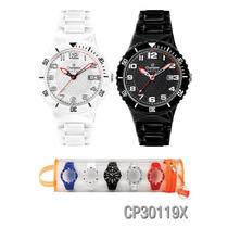 Relógio Champion Cp30119x Original Com 8 Pulseiras Garantia