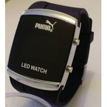 Relogio Led Pulso Puma Sport Black Watch Led Digital Lindo