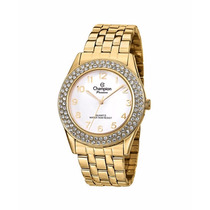 Relógio Dourado Feminino Champion Cn28928h Garantia 1 Ano