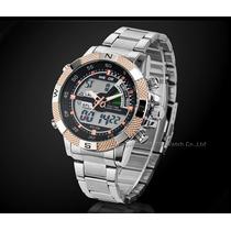 Relógio Esportivo Weide Aço Inox C/ Garantia Pronta Entrega
