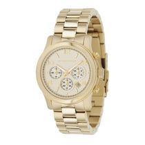 Relógio Michael Kors Mk5055 Dourado Caixa E Manual