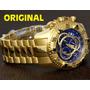 Relógio Invicta Reserve Dourado Masc Original Mod 6469