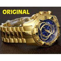 Relógio Invicta Reserve Novo Dourado Masc Original Mod 6469