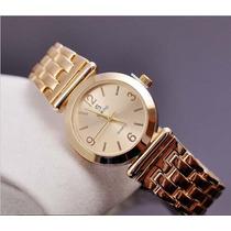 Relógio Feminino Dourado Banhado A Ouro, Á Prova D