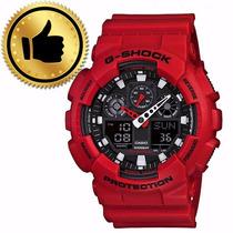 Presente De Natal Relogio Casio G-shock Ga-100b4adr Vermelho