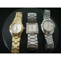 Lote De 03 Relógios De Pulso Feminino Diversas Marcas