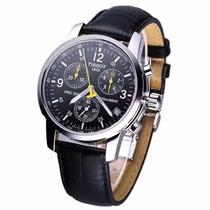 Relógio Tissot Preto Dourado Prc200 1853 Original Excelente
