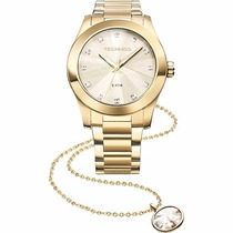 Relógio Technos Feminino Elegance Crystal Swarovski Kit Com