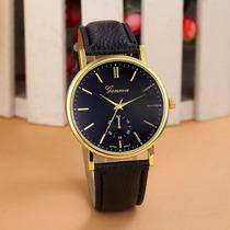 Relógio Geneva Social Quartz Original Frete Grátis