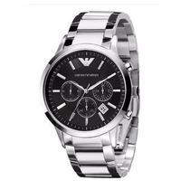 Relógio Emporio Armani Ar2434 Prata Original-frete Gratis
