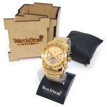 Relógio Modelo Bvgari Ironman Automático Dourado (novo)
