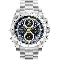 Relógio Bulova Precisionist Champlain 96b175 Chron Anal Prta
