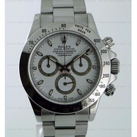 Relógio Prata Fundo Branco Daytona Vidro Safira Sedex Grátis