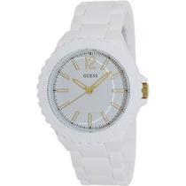Guess Relógio Branco U0216l1 Unissex Imperdivel