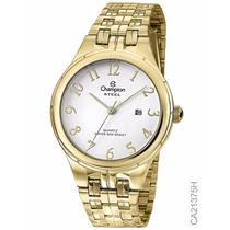Relógio Champion Feminino Dourado Ca21375h C/ Calendário