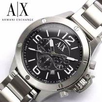 Relogio Masculino Armani Exchange Ax1501 Prata Original+caix