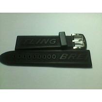 Pulseira Relógio Breitiling Borracha Siliconada 22/24mm Ori-