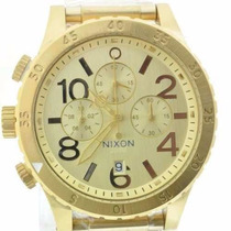 Relógio Nixon The 48-20 Chrono Dourado