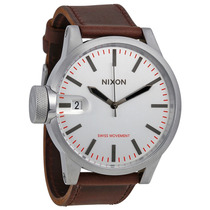 Relógio Masculino Nixon Chronicle Silver Brown