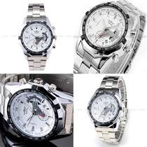 Relógio Automático Winner Pulseira De Aço Data Importação
