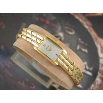 Relógio Bulova Feminino Plaque Ouro Quartzo Bracelete