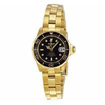 Relógio Invicta Pro Diver Gold Black Dial Feminino 8943